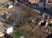 Порушени комплекс цркве у Ђаковици март 2004